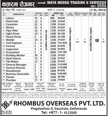 Civil Engineer, General Manager, Carpenter & Other