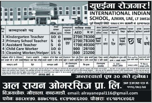 Worker, Teacher, Helper & Other
